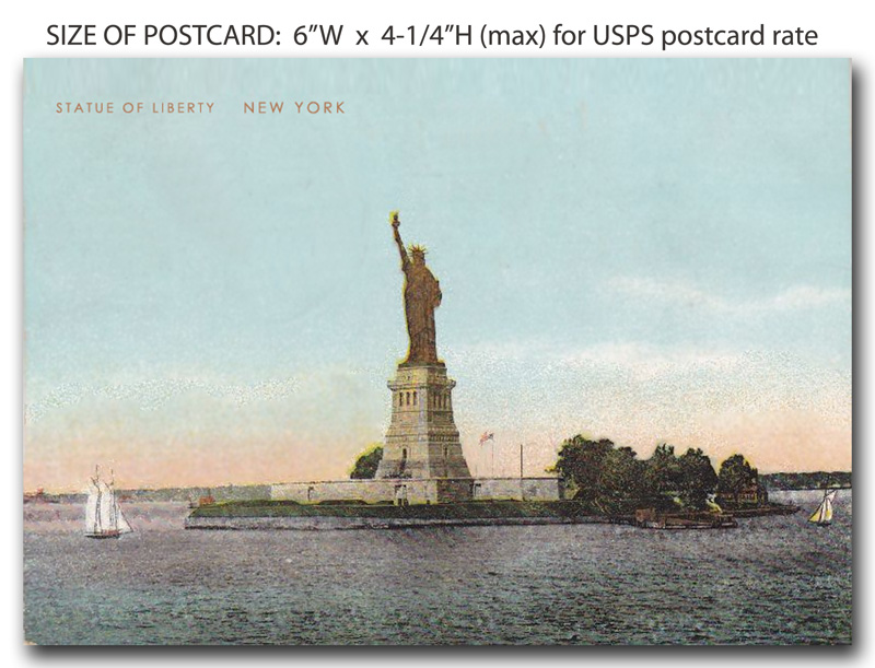 What Is the Size of a Postcard in USA? | postcard-magnet